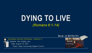 Dying to Live - 15 Aug 2021