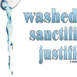 1 Corinthians 6-11 You Were Washed, Sanctified, Justified white