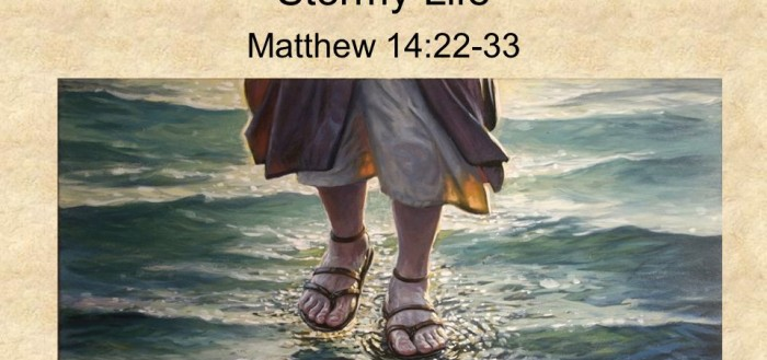 Matthew 14:22-33.