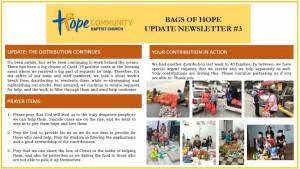 Bags of Hope Newsletter #3